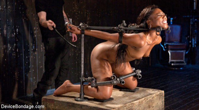 Chanell Heart in  Devicebondage Ebony Pain Slut is Captured in Brutal Devices May 08, 2015  Corporal Punishment, Straight