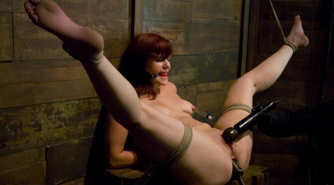 Kaydence Katchings in  Hogtied Kaydence is spread wide & fucked in the ass September 28, 2009  Fingering, Submission