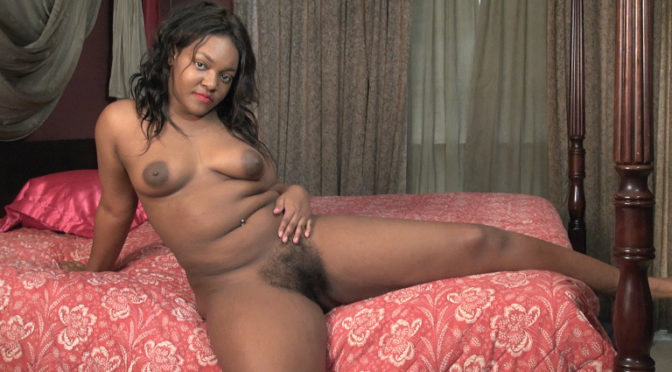 Bobbie Rains in  Wearehairy Bobbie Rains masturbates with a toy in bed June 18, 2018  Toy Insertions, Puffy Nipples