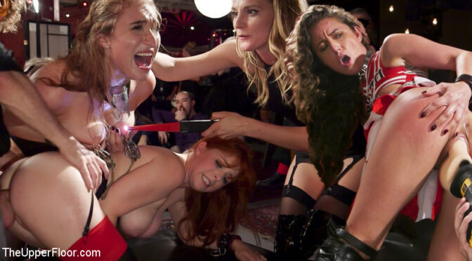 Penny Pax in  Theupperfloor Squirting Slave Sluts Inspire A BDSM Halloween Orgy December 07, 2017  Dildo, Straight