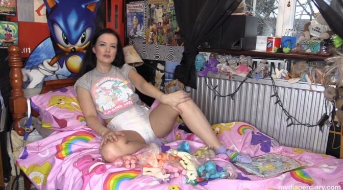 Faye Taylor in  Mydiaperdiary.com I love My Little Pony May 24, 2019  Diapers, Wetting
