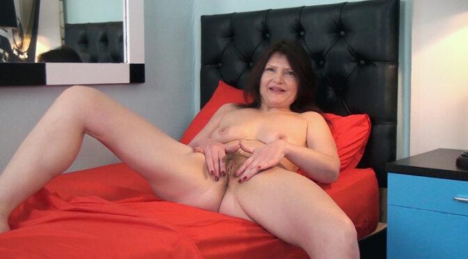 Kristine Von Saar in  Wearehairy Kristine Von Saar strips naked in her room March 03, 2017  Curvaceous, Brunettes