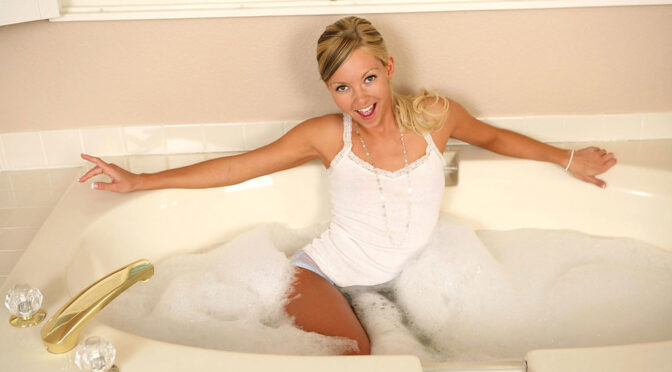 Aaliyah Love in  Anilos Bathdildo July 20, 2009  Shaved Pussy, Long Hair