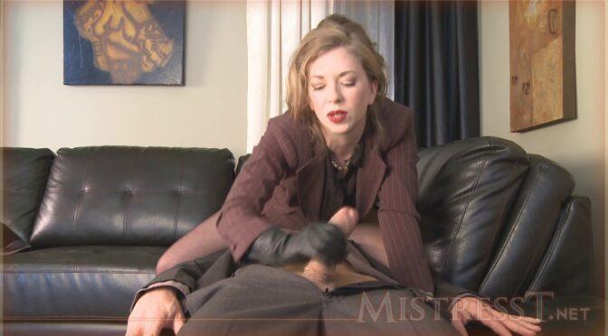Mistresst Self Control Test 2 September 15, 2010  LEATHER GLOVES, Facesitting