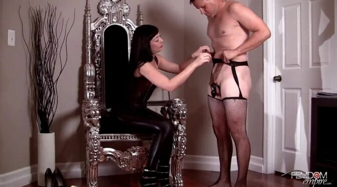 Nyssa Nevers in  Femdomempire Chastised into a sissy maid December 07, 2011  Asian