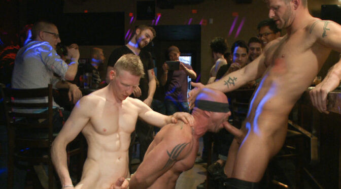 Mitch Vaughn in  Boundinpublic Muscle stud Mitch Vaughn tied up and used in a public bar April 12, 2013  Gay, Domination