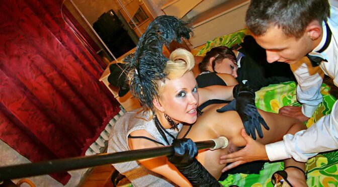 Cleopatra Rios in  Collegefuckparties Hot sex party in retro style, part 4 September 03, 2013  Piercing, High Heels