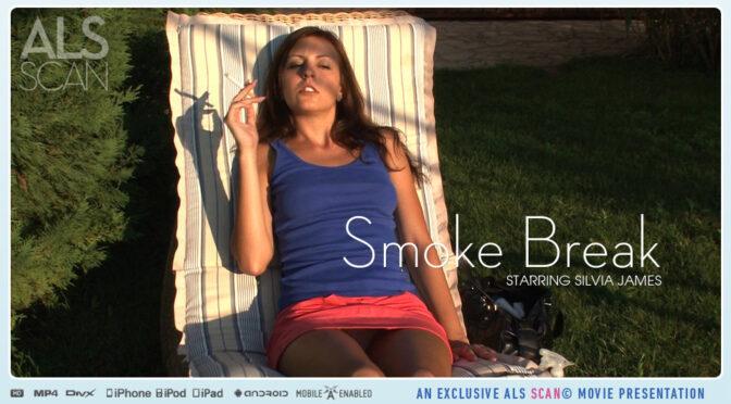Silvia James in  Alsscan Smoke Break February 15, 2013  Masturbation, Outdoor