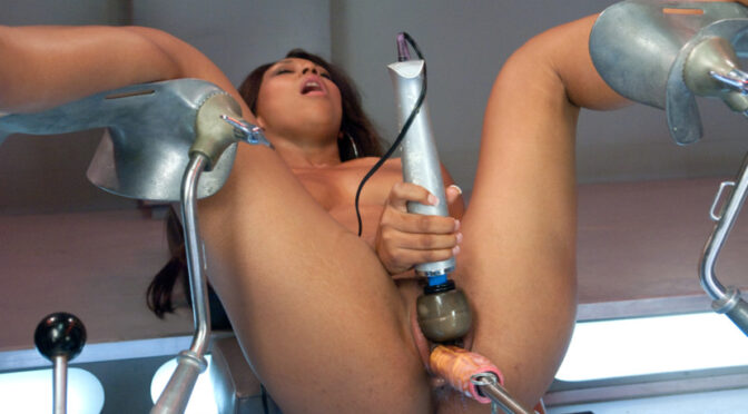 Leilani Leeane in  Fuckingmachines 19 years old and 6 months into porn: Another new girl takes on the Machines November 15, 2011  Machine Dildo, Vaginal Penetration
