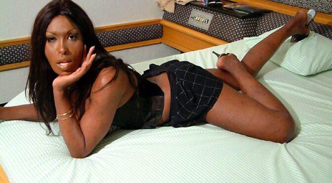 Suzanna Holmes in  Blacktgirls Suzanna Holmes Strokes Her Big Cock! October 22, 2003  Transsexual