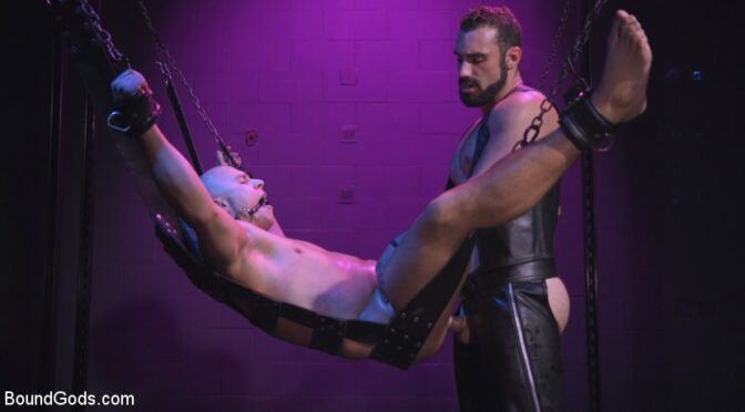 Eli Hunter in  Boundgods Sex Club Owner Fucks and Torments an Obnoxious Party Goer September 29, 2016  Cattle Prod, Gay