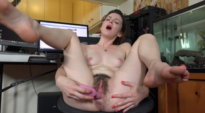 Emma Evins in  Wearehairy Emma Evins masturbates after enjoying We Are Hairy August 30, 2015  Lingerie, Hairy Armpits
