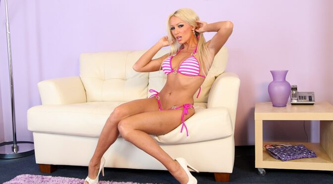 Diana Doll in  Cherrypimps Diana Doll Solo August 17, 2014  Fake Tits, Masturbation