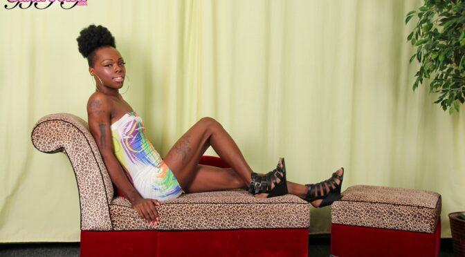 Sabrina in  Blacktgirls Sabrina Jacks Off! September 29, 2015  Transsexual