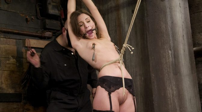 Amber Rayne in  Hogtied Amber is Bound and Face Fucked July 10, 2007  Rope Bondage, Domination