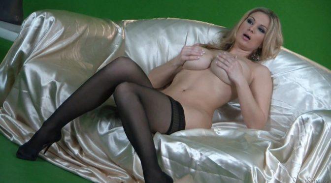 Carol Gold in  Silviasaint BTS-Beautiful Blonde Carol Gold Solo May 16, 2013  Big Tits, Pantyhose