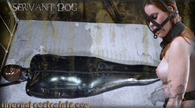 Hazel Hypnotic in  Infernalrestraints Servant Dog May 13, 2011  Metal Bondage, Blow Job
