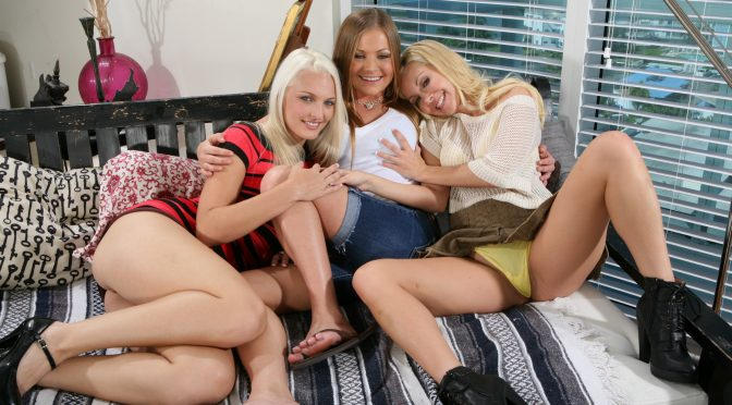 Mercedes Lynn in  Partyofthree Pussy Eaters! November 29, 2012  White, Blonde