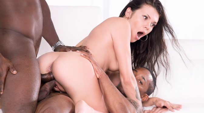 Verona Sky in  Private Verona Sky, her first interracial trio comes with double vaginal September 01, 2017  Double Pussy, Blowjobs