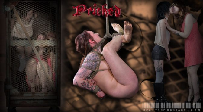 Mollie Rose in  Realtimebondage Pricked January 11, 2014  Flogging, Drool
