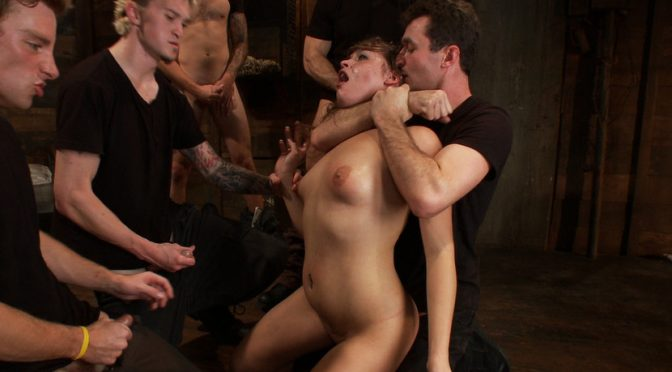 Ashlynn Leigh in  Boundgangbangs Take Down Challenge for Adorable 19 Year Old December 14, 2011  Double Penetration, Rough Sex