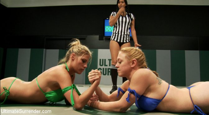 Dee Williams in  Ultimatesurrender 2 big titted blonds battle in non-scripted wrestling. Submission holds, face sitting, finger fucking November 18, 2011  Fingering, Submission