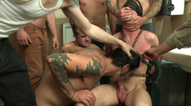 Tripp Townsend in  Boundinpublic Bathroom pig whored out to the horny public January 24, 2014  Gay, Humiliation