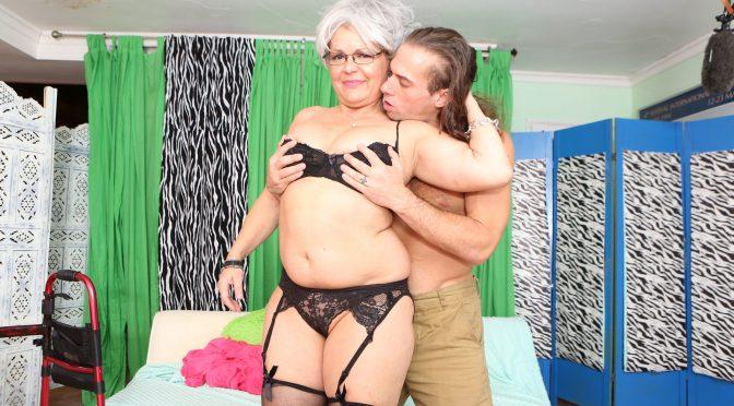 Kelly Leigh in  Devilsfilm Horny Grannies Love To Fuck #12, Scene #01 November 12, 2017  Facial, Titty Fuck