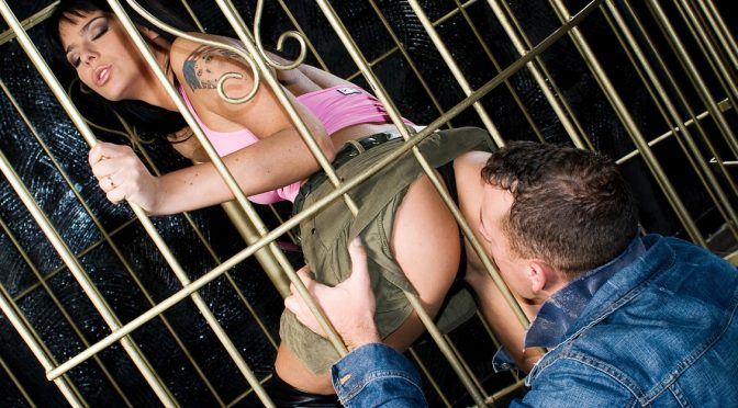 Simony Diamond in  Private Sexy Simony Teases Two Guys While Dancing in a Cage February 14, 2013  Hand Jobs, Blowjob