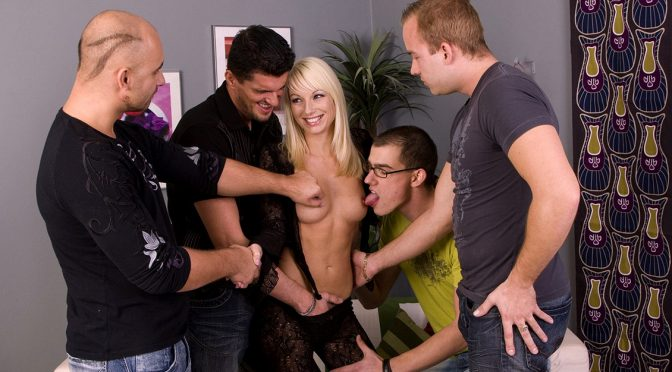 Lena Cova in  Private Blonde Lena Cova Gets Wild Gang Bang with Handjobs Blowjobs and DP April 14, 2010  Blonde, Anal Sex