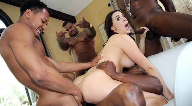 Chanel Preston in  BlacksOnBlondes.com Chanel Preston's Third Appearance May 02, 2017  GangBang, Double Penetration
