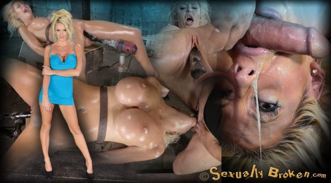 Courtney Taylor in  Sexuallybroken Sexy huge breasted Courtney Taylor bound onto fucking machine, pounded hard with brutal deepthroat! October 31, 2014  Long Hair, Face Fucking