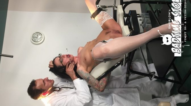 Pornfighter Long John in  Badtimestories Piss play and BDSM action with German slave Stella Star and doctors PT 2 May 30, 2018  Kink, Anal Hook
