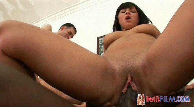 Rafaella in  Devilsfilm Cream Pie Orgy #06, Scene #01 October 09, 2008  Interracial, Big Tits