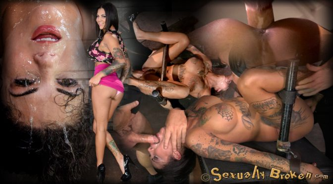 Bonnie Rotten in  Sexuallybroken AVN winner Bonnie Rotten shackled in strict device bondage, fucked to a drooling destroyed mess! November 14, 2014  Enhanced Breasts, Drool