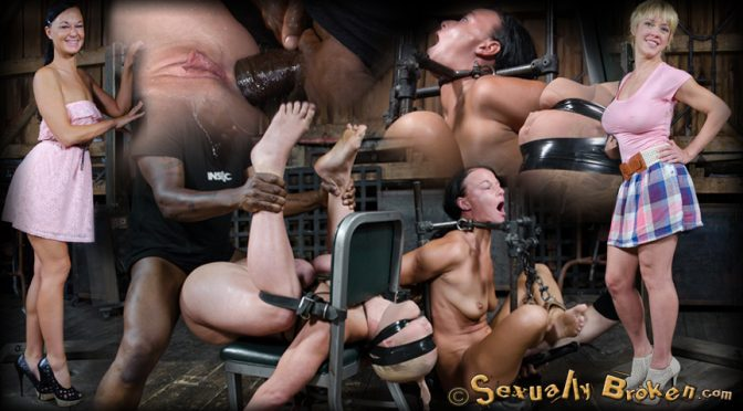 Dee Williams in  Sexuallybroken Busty blonde Darling assfucked by BBC as bound London River watches while cumming her brains out! September 02, 2015  Hitachi, Breast Bondage