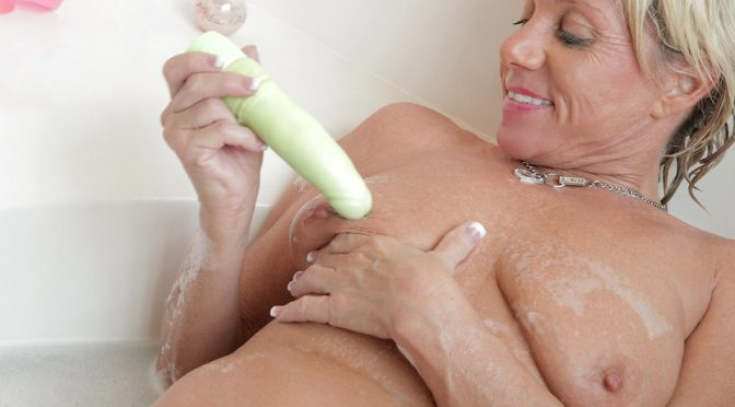 Payton Hall in  Anilos Dirty Old Lady October 08, 2012  Toys, Wet