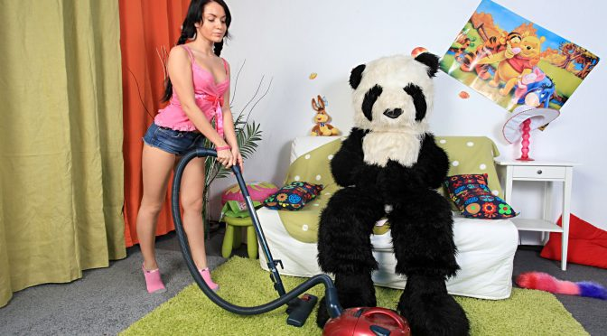 Pandafuck Pandas brutal dildo porn action June 19, 2013  Brunette, Sex Toys