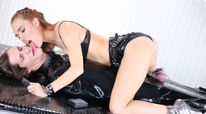 Kiki Vidis in  Femdomempire Electro Chastity Trainer November 11, 2016  Euro, CBT