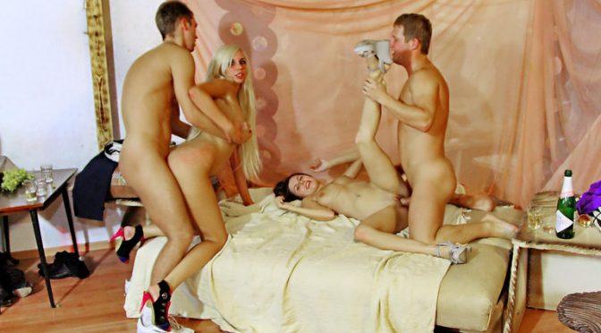 Allysin Moore in  Collegefuckparties Groovy college orgy in a club, part 5 July 16, 2011  Piercing, High Heels