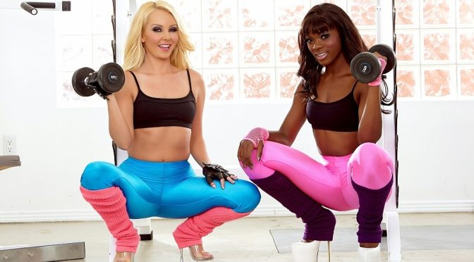 Aaliyah Love in  Cherrypimps Lets Get Physical w Ana and Aaliyah October 01, 2014  Lesbian, Interracial