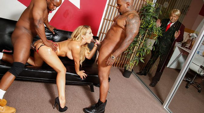 Cherie Deville in  BlacksOnBlondes.com Megyn Gets Trumped August 18, 2015  Cougars, 2 On 1
