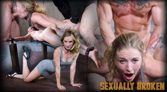 Mona Wales in  Sexuallybroken Sexy Pale and Slim Mona Wales Gets Pounded By Two Cocks in Fighter Jet Position! September 16, 2016  Drool, Fucking