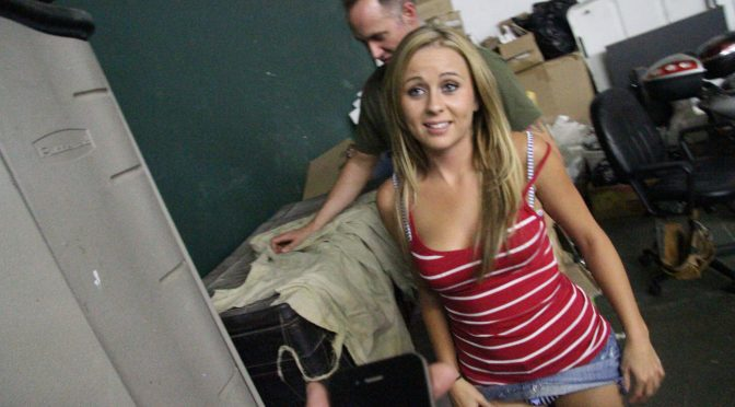 Mae Meyers in  Pervsonpatrol Sneaking Goes Bad November 10, 2011  Threesome