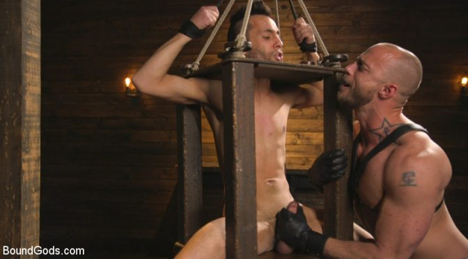 Jessie Colter in  Boundgods New house slave offers himself to the sexual desires of Master Colter March 16, 2017  Clothespins, Bdsm