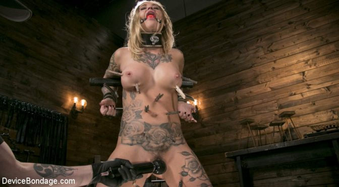 The Pope in  Devicebondage Blonde Submissive Bombshell Kleio Valentien Gets Punished and Pleasured in Strict Bondage!! June 29, 2017  Fingering, Leather