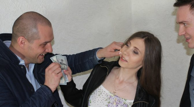 Stephanie Moon in  Pickupfuck Naughty babe enjoys real facial in a haunted house August 25, 2016  Money