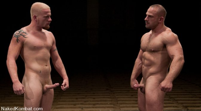 Luke Riley in  Nakedkombat Luke Riley vs Samuel Colt August 28, 2012  Athletic, Cock Worship