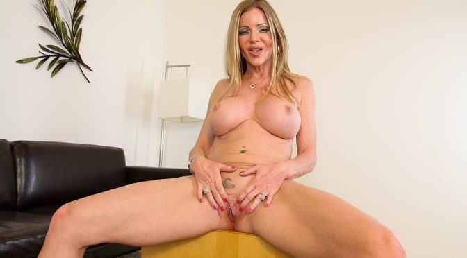 Amber Michaels in  Cherrypimps Amber Michaels Solo September 13, 2014  Blonde, Fake Tits