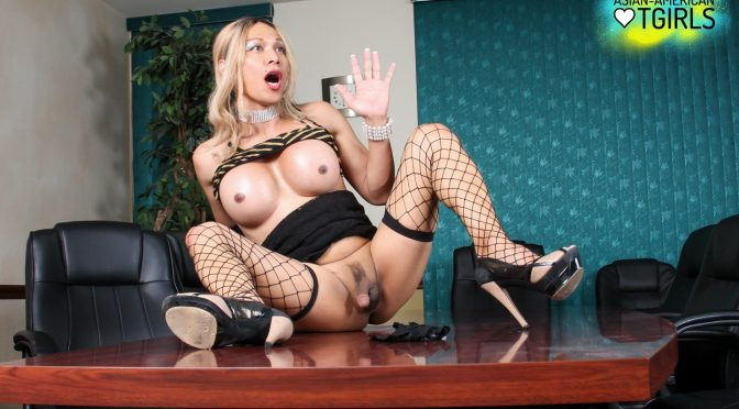 Chloe London in  Asianamericantgirls Chloe London All Business September 02, 2014  Transsexual
